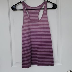 EXPRESS | Purple Ombre Striped Tank Top